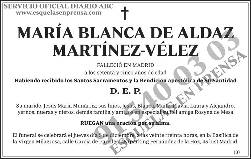 María Blanca de Aldaz